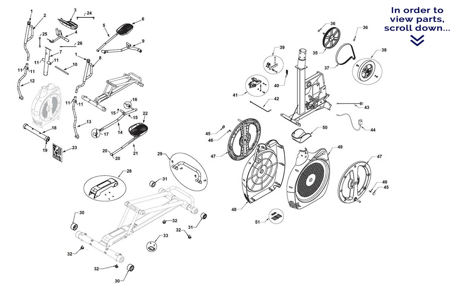 Schwinn 450 Elliptical Repair Parts