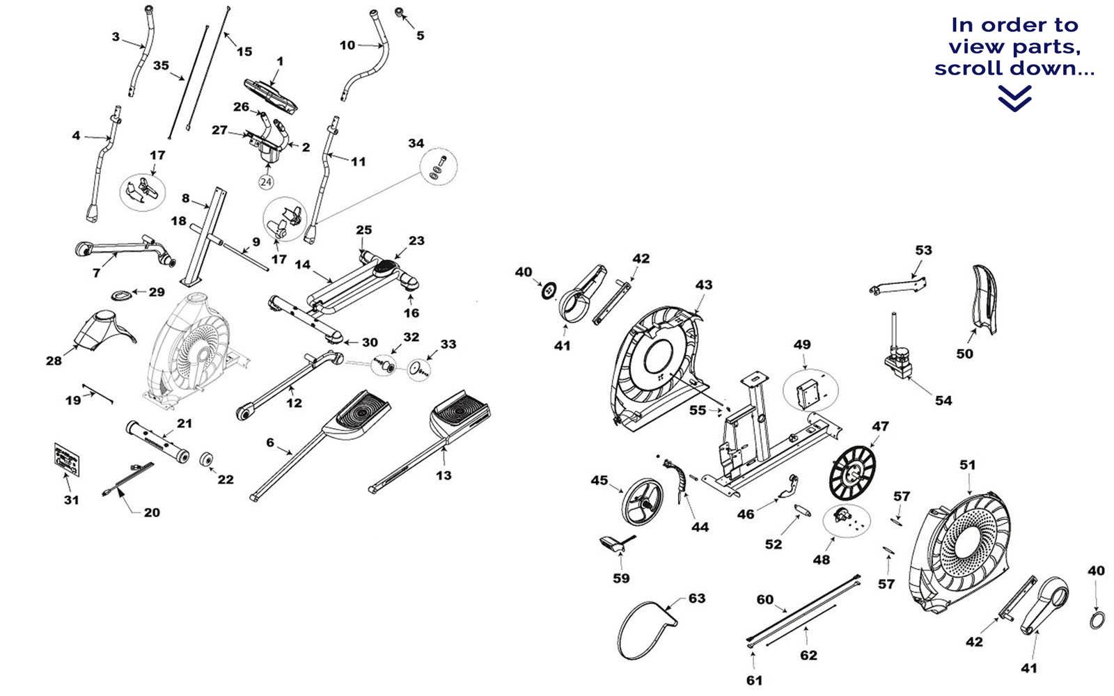 Schwinn 470 Elliptical Repair Parts