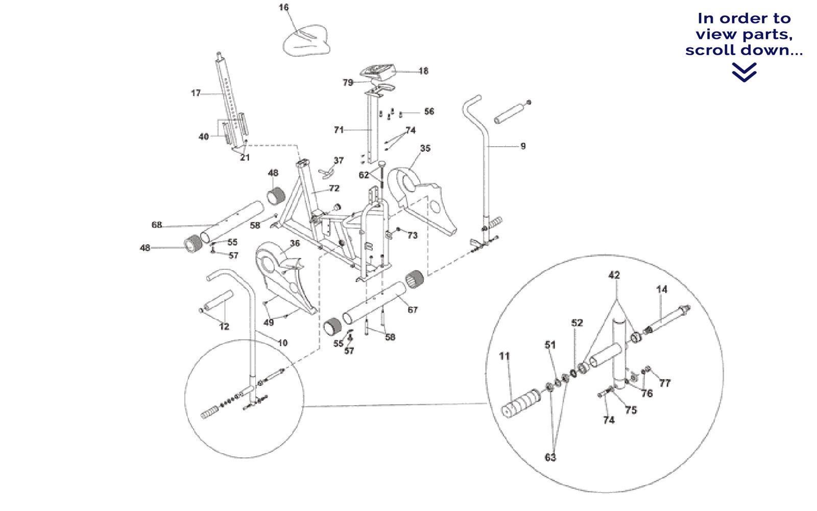 Main Frame Amp Pivot Arm Parts