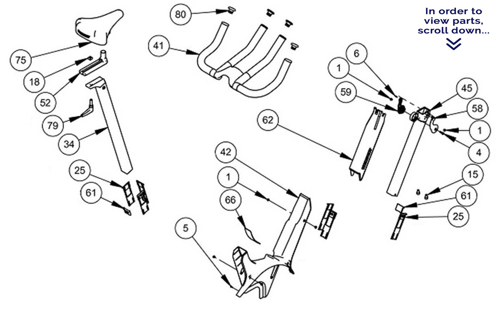 Keiser M3 Handlebar Seat Parts Scroll Down To View Parts