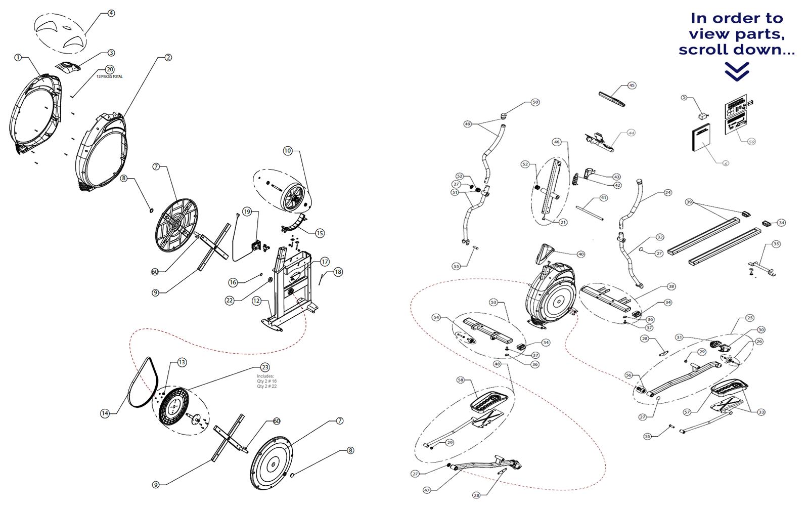 Schwinn 420 Elliptical Parts Scroll Down To View Parts