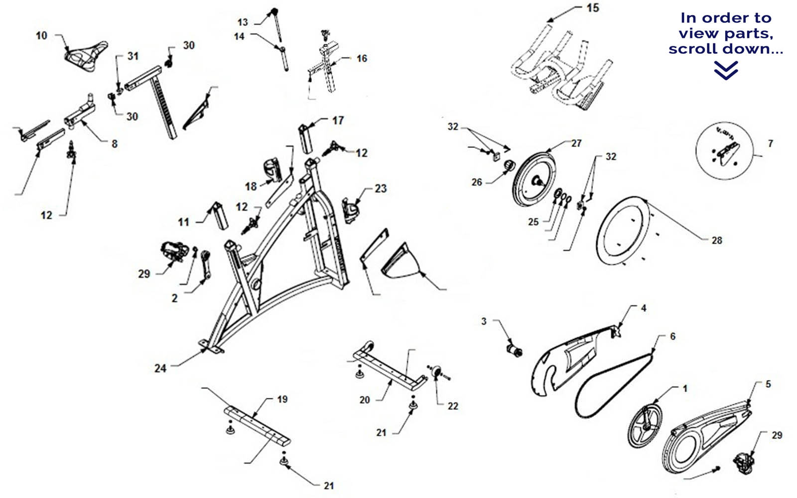 Schwinn Ac Sport Scroll Down To View Parts