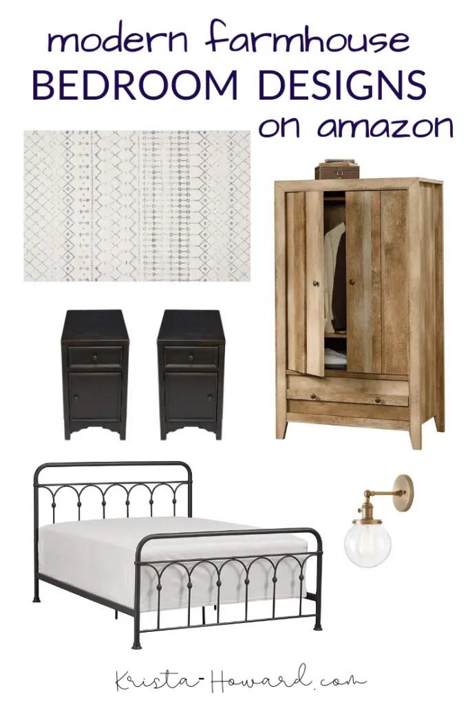 modern farmhouse bedroom designs on amazon