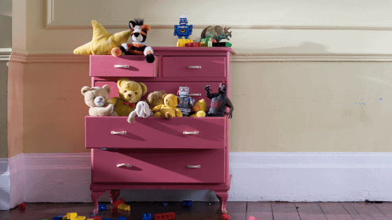 Purple Painted Kids Dresser