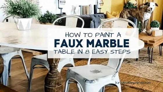 Faux Marble Look Using Paint - krista-howard.com