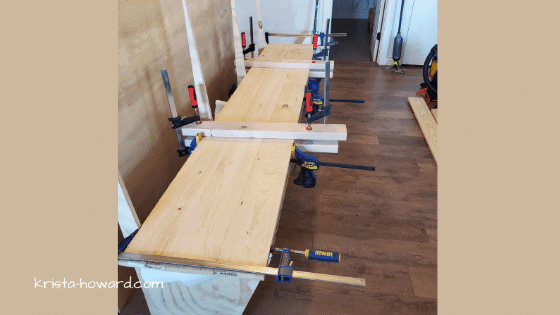 DIY Banquet Bench in Process