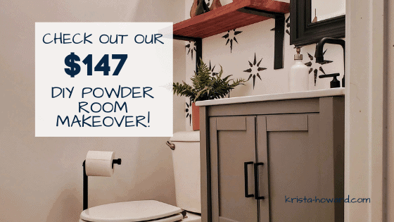 DIY Powder Room Makeover on a Budget