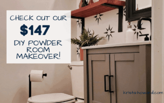 DIY Powder Room Makeover on a Budget