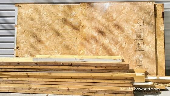 Garage Building Materials Repurposed