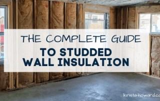 Studded Wall Insulation