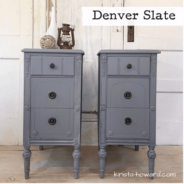 Gray painted nightstands