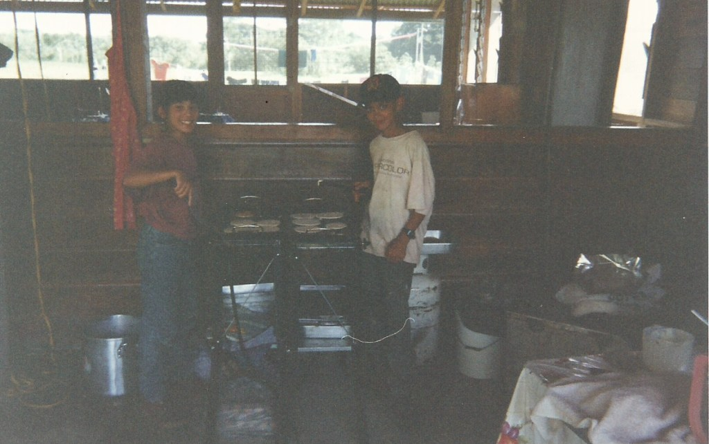 Starting from the time I was 11 I would go on overseas missions trips. We all had KP duty and in this picture, which was taken in Belize, it was my turn.