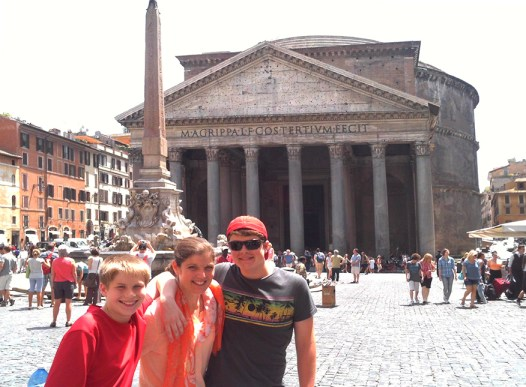 The Pantheon in Rome.  Can you believe this was built in 126 AD??