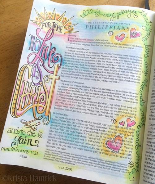 Philippians 1 21