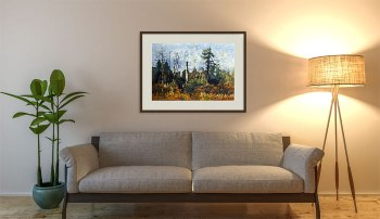 Watercolor batik landscape in situ