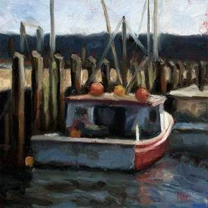 Docked #2 daily oil painting