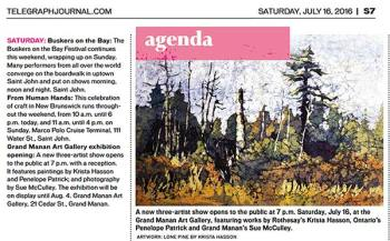 Telegraph Journal artist Krista Hasson