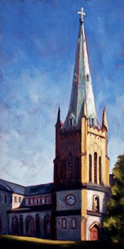 Cathedral - Saint John NB oil by Krista Hasson