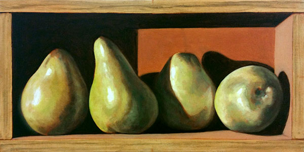 Update - Pears in a Box – Oil WIP Week 2 Krista Hasson