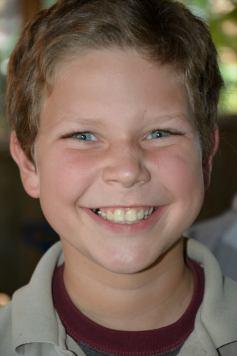 Thomas smiling