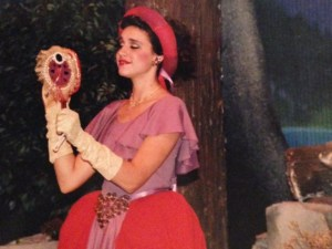 """This is me (age 17) as the Wicked Stepmother in """"Snow White"""""""