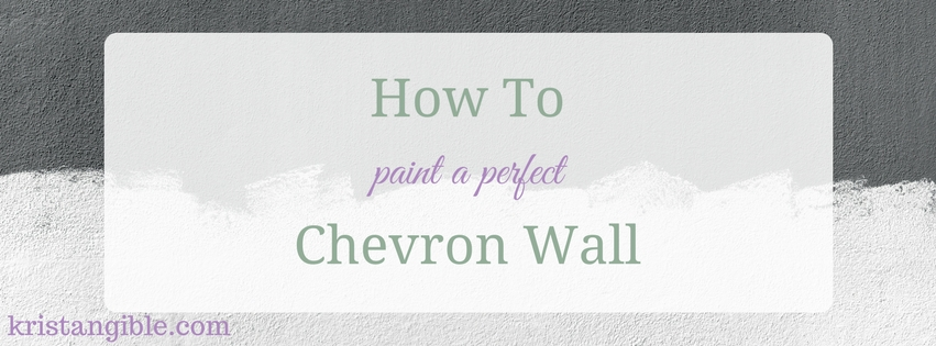 how to paint a perfect chevron wall