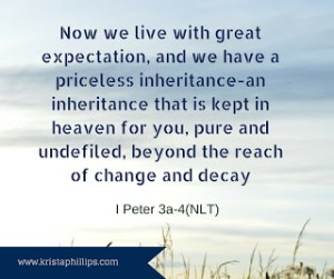 Verse of the Day: I Peter 1:3a-4