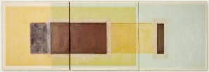 MANAS 1 - 16x48 - Wax, Paper, Pastel and Clay on Panel - 2011