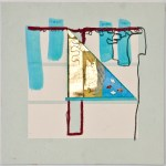 Map 38 - Letterpress and Mixed Media - 6x6 - 2013