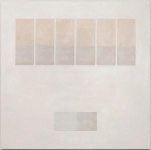 Krista Svalbonas - Transparency 1 - Wax and Pastel on Doorskin - 36x36 - 2012
