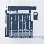Krista Svalbonas - Pegnitz 2, aluminum and blacksmith powder photo-serigraph on mylar , 9x9, 2013