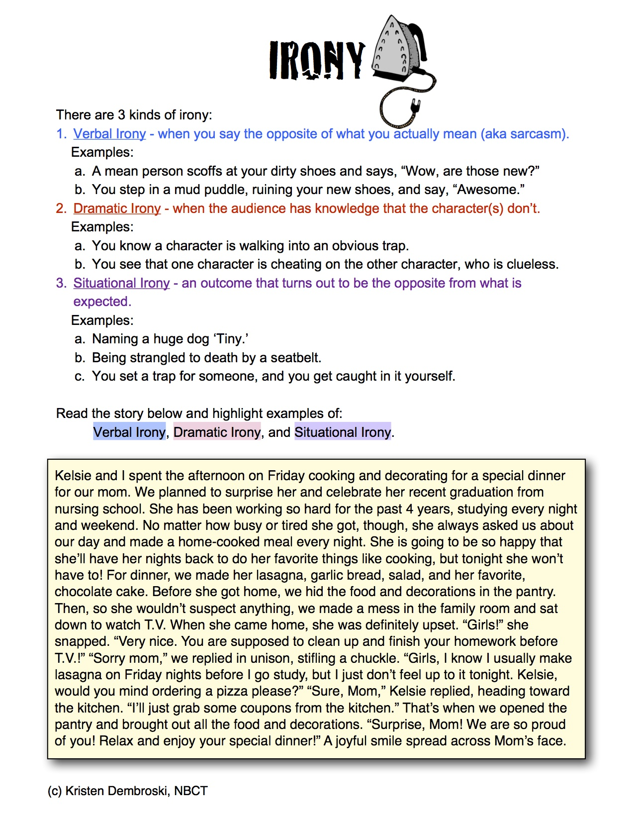 Worksheet Irony Worksheets Grass Fedjp Worksheet Study Site