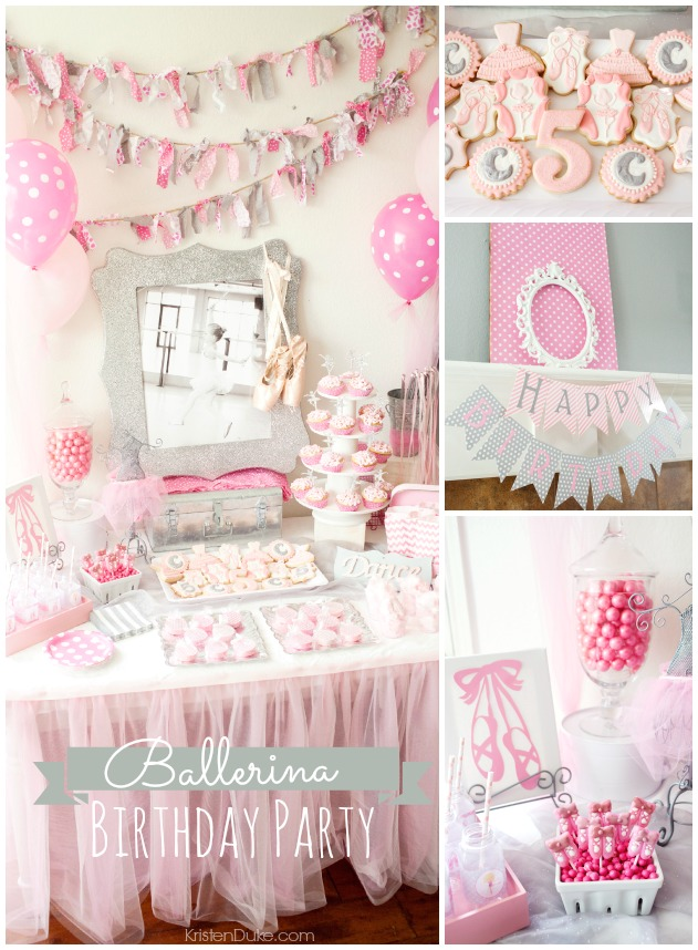 Ballerina Birthday Party With Lots Of Really Cute Ideas Via Kara S Cake