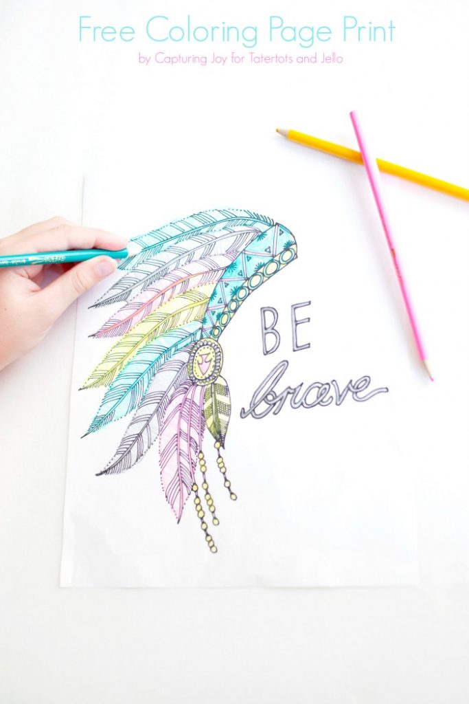 Be Brave Coloring page Print