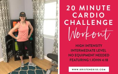 20 Minute Cardio Challenge