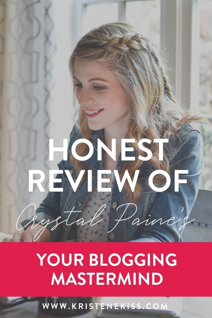 An honest review of Crystal Paine\'s Your Blogging Mastermind program. Take a peek at my candid thoughts and reviews of the mastermind.