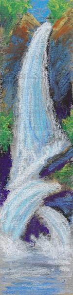 ©2013 Kristen Gilje, Zion's Waterfall wc sketch