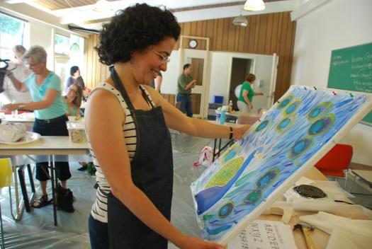 Sarah, Carey Inst. Aug 2012 silk painting workshop