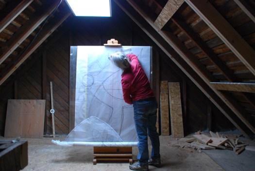 Kristen Gilje drawing Proclaim ELM design