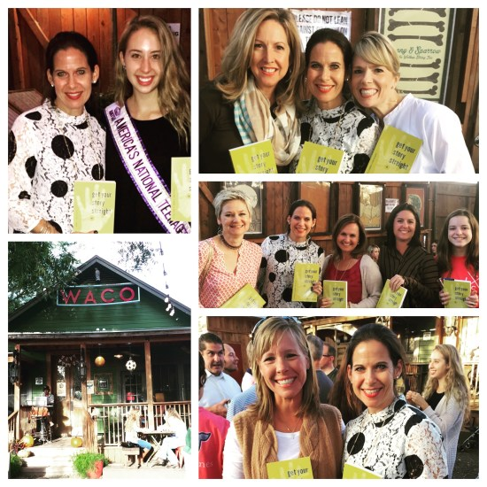 Waco, Texas Book Launch party at Common Grounds Coffee near Baylor's campus and the famous Magnolia Market.