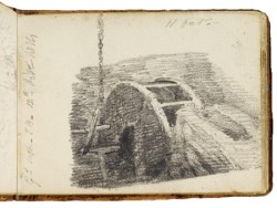 Sketch of a water wheel by Jon Constable, Oct 11, 1814