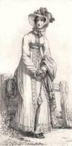 Regency Era Women's Fashion: Pelisse coat, October 1820, Ackermann's Repository
