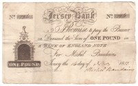 Regency Era Currency: One pound note, Bank of Jersey, 1813.