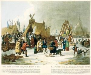 The Last Frost Fair: The Frost Fair, London 1814.