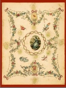 Regency Valentine: Oldest printed Valentine's Day Card from 1797.