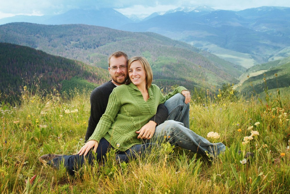 vail colorado engagement mountaintop