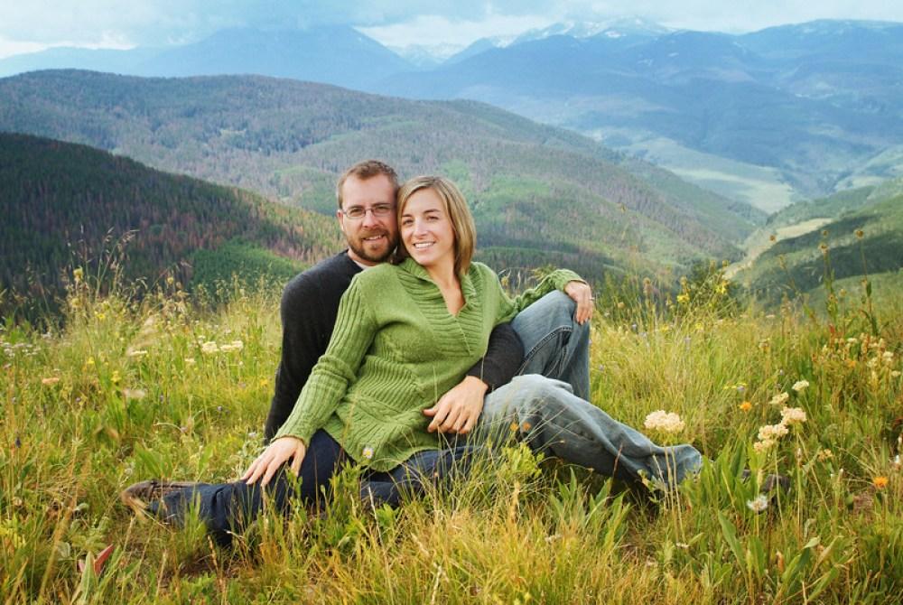 vail colorado engagement mountaintop