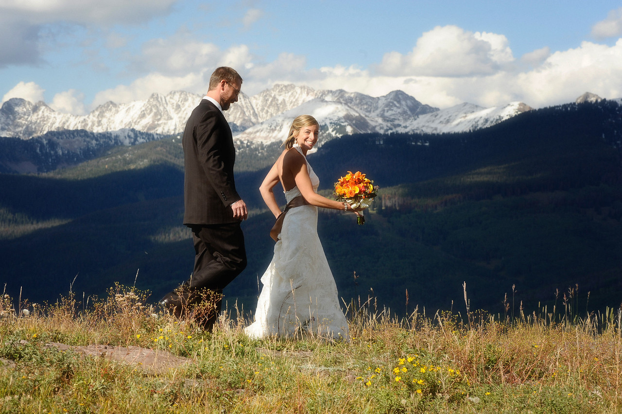 vail colorado mountaintop wedding