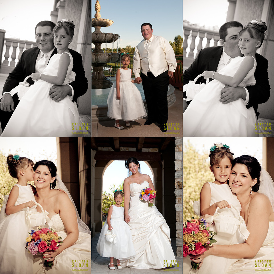 flower girl country club wedding