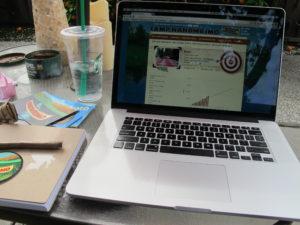 My writing campsite